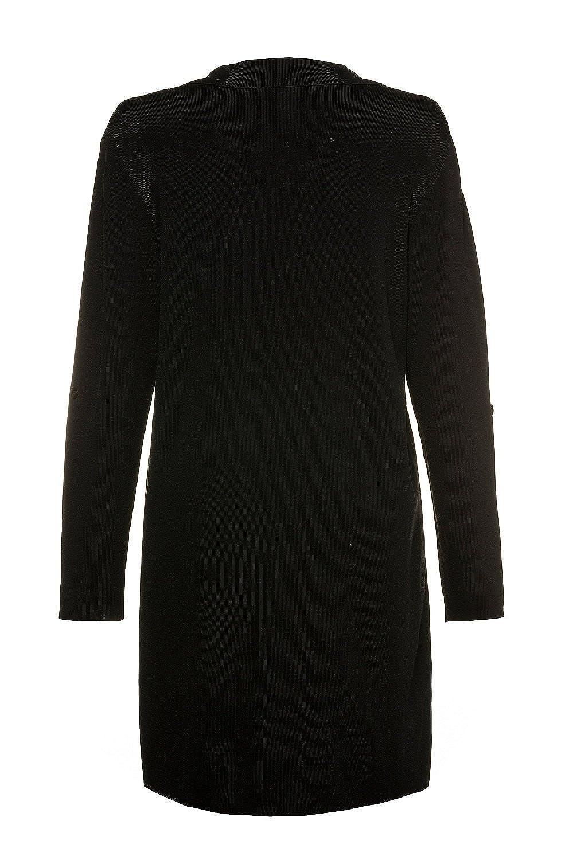 Ulla Popken Womens Plus Size Asymmetric Open Cardigan 714488