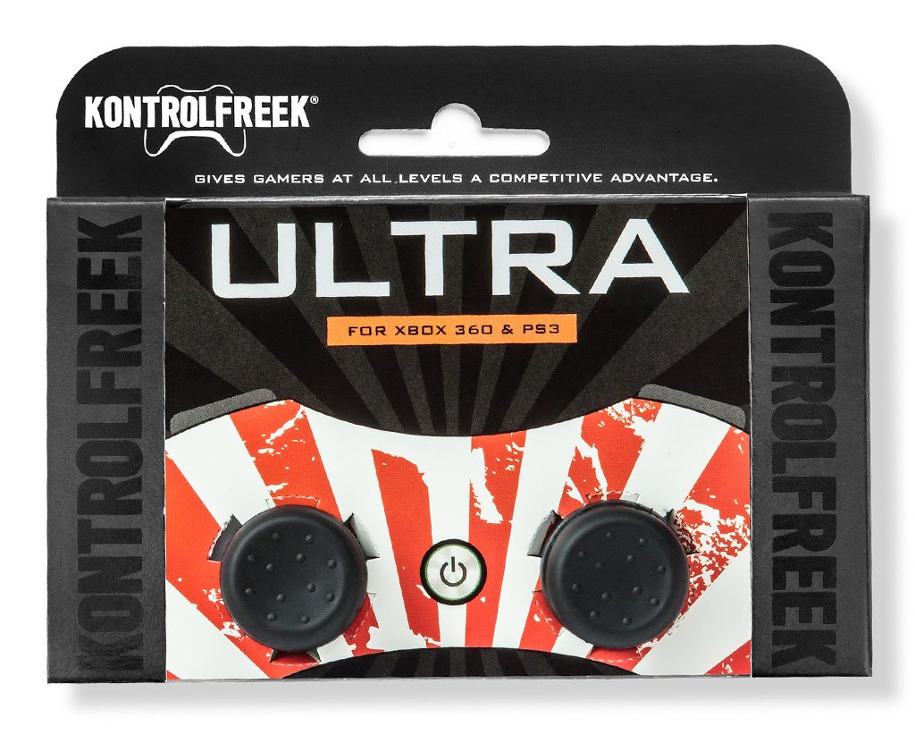 KontrolFreek Ultra for Playstation 3 (PS3) and Xbox 360 Controller   Performance Thumbsticks   2 High-Rise Concave   Black by KontrolFreek