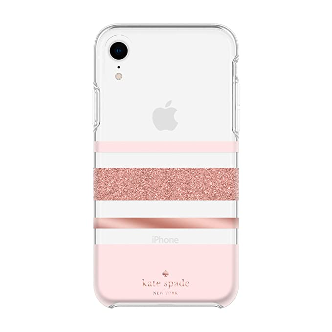 lowest price af428 22965 Kate Spade New York Phone Case | for Apple iPhone XR | Protective Phone  Cases with Slim Design, Drop Protection, and Floral Print - Charlotte  Stripe ...