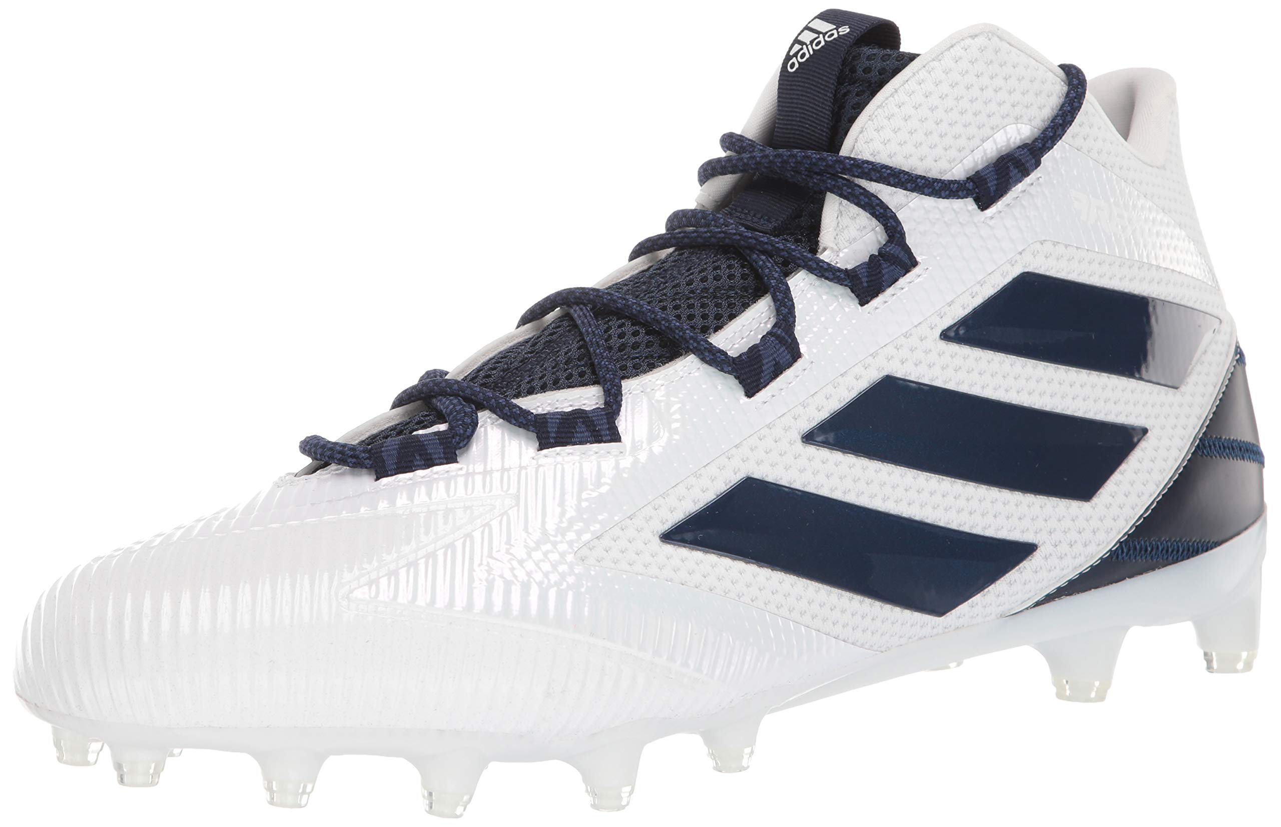 adidas Men's Freak Carbon Mid Football Shoe, White/Collegiate Navy/Noble Indigo, 6.5 Medium US by adidas