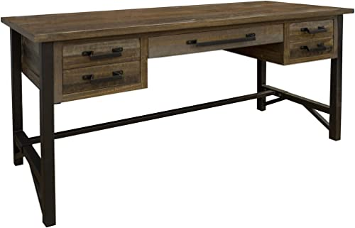 Editors' Choice: Crafters and Weavers Greenview Loft Industrial Rustic Modern 5 Drawer Desk