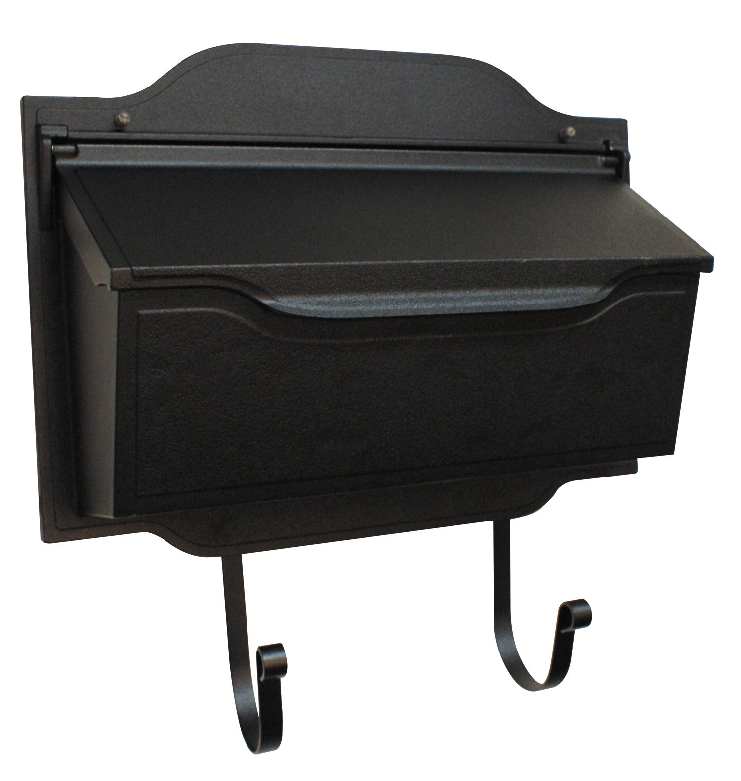 Special Lite Products Shc-1002-Blk Contemporary Horizontal Mailbox, Black