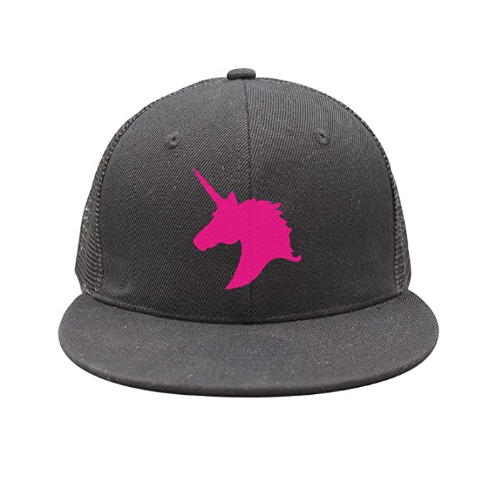 f40982a0abaa2 Image Unavailable. Image not available for. Color  Kids Pink Unicorn Polo  Horse Trucker Hats ...