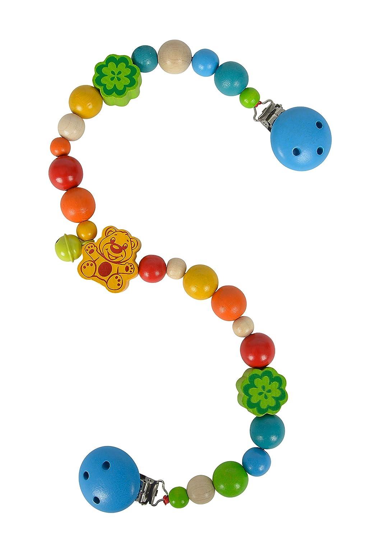 Simba Heros 100017062 – Baby, chaîne Chariot, Multicolore – Motif Ours –  Bois de hêtre – 54 cm de Long ... ebfdf177060