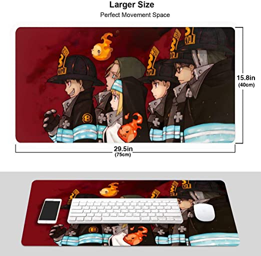 Waterproof Mousepad with Stitched Edges Mouse Pad U.S Air Force Fire Protection Mouse Mat Gaming Non-Slip Rubber