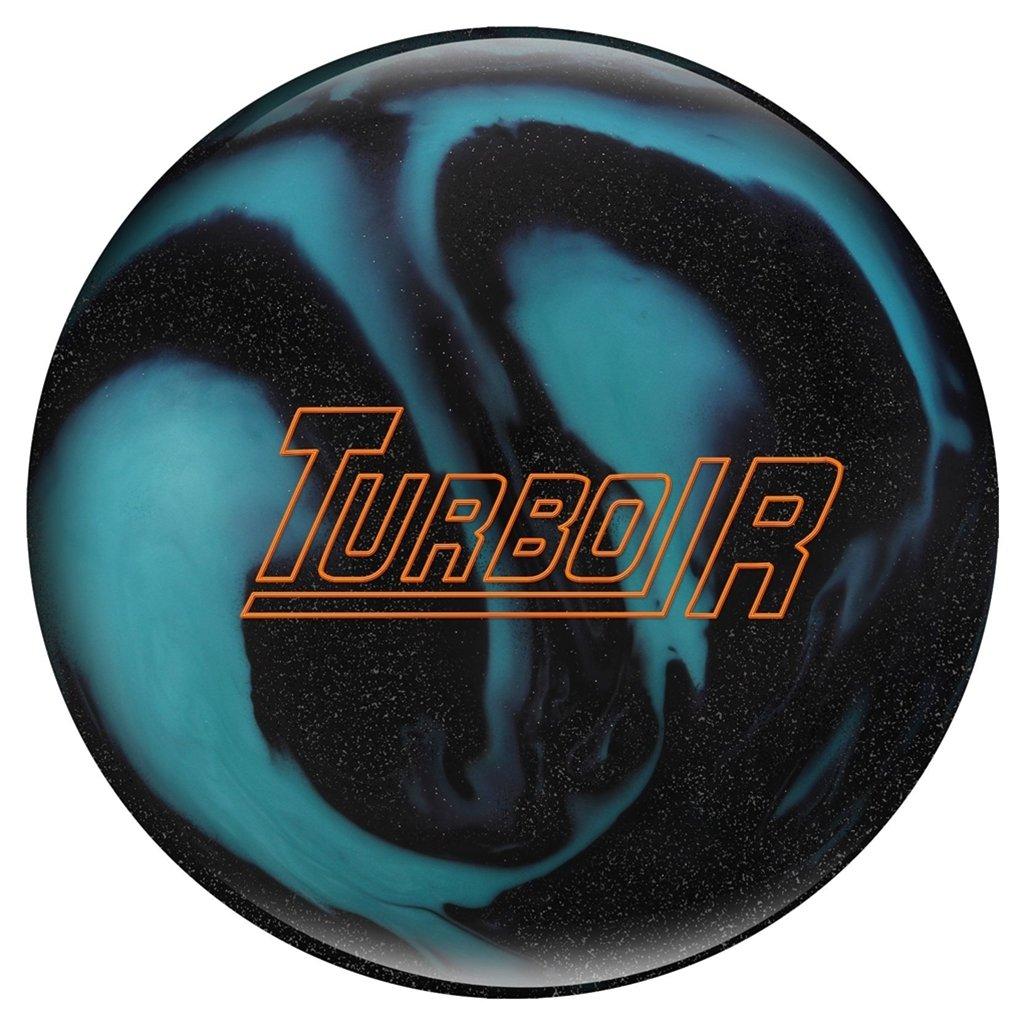 Eboniteターボ/R pre-drilled Bowling ball-ブラック/Sparkle/Aqua B07D36Q5X6  15lbs