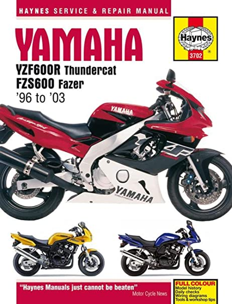 716vFsflkAL._SY606_ amazon com haynes manual yam yzf600r fzs600 automotive