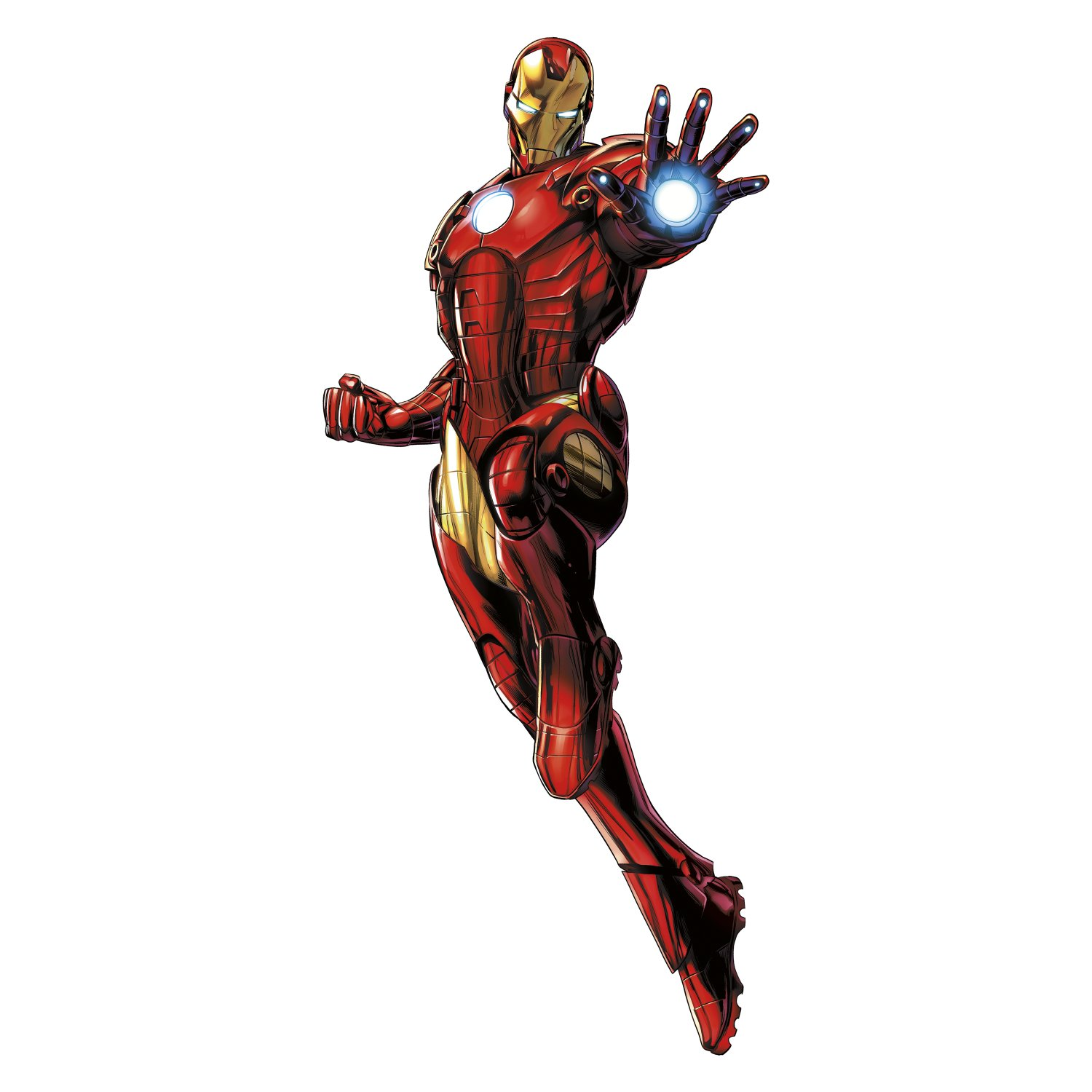RoomMates RMK3172GM Iron Man Peel and Stick Giant Wall Decals with Glow by RoomMates (Image #2)