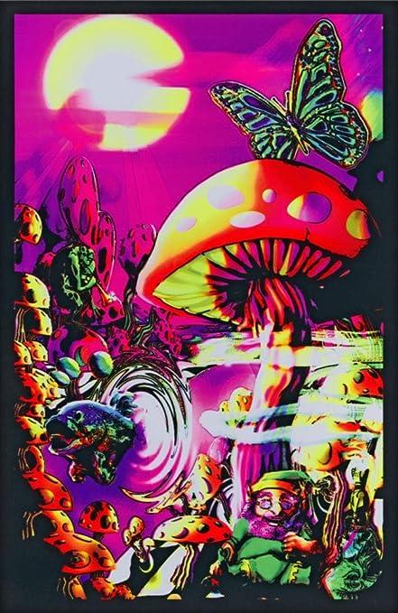 amazon com generic magic valley trippy mushrooms art poster print