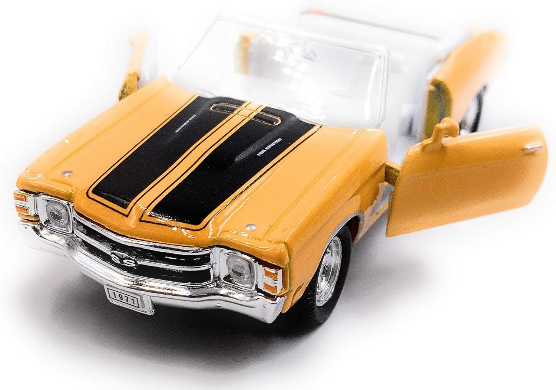 Onlineworld2013 1971 Chevelle Ss 454 Zufällige Farbe Modellauto Auto Maßstab 1 34 Lizensiert Auto