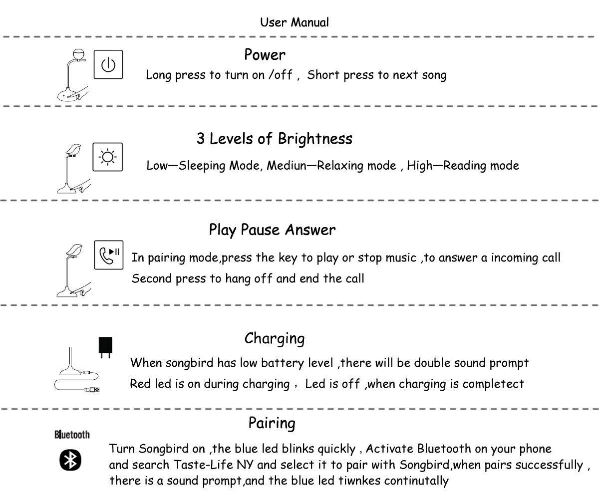 L/ámpara de mesa con Bluetooth est/éreo Cuello de ganso flexible toque inteligente 3 brillos LED para Estudio Lectura Cuidado los Ojos Con bater/ía de litio carga USB f/ácil de llevar Blanco C/álido