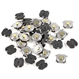 30 Pcs 4x4x1.5mm SMD Momentary Tact Tactile Micro Switch DC 12V 0.2A