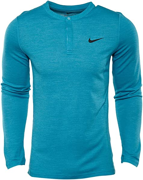 1f772979 Amazon.com | NIKE Wool Henley Tennis Shirt Mens Style: 631641-407 ...