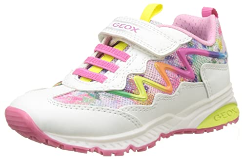 Geox Bernie D, Sneakers Basses Fille, Rose (Fuchsia/Pink), 33 EU