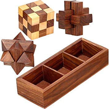 This wooden puzzle game is inspired by
