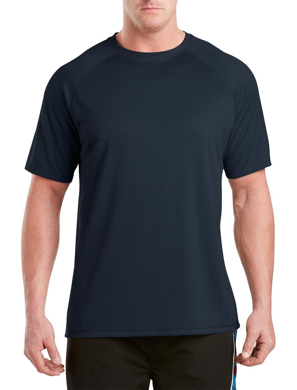 Midnight 3XLTall Harbor Bay by DXL Big and Tall Swim Rash Guard T-Shirt