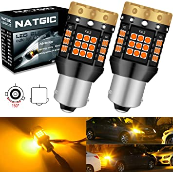 2X Canbus Amber BAU15S 7507 PY21W 1156PY LED Bulbs For Car Turn Signal Lights