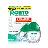 Deals on 3 Count Rohto Cooling Redness Relief Eye Drops, 0.4 Ounce