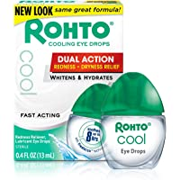 3-Count Rohto Cool The Original Cooling Redness Relief Eye Drops, 0.4 Ounce