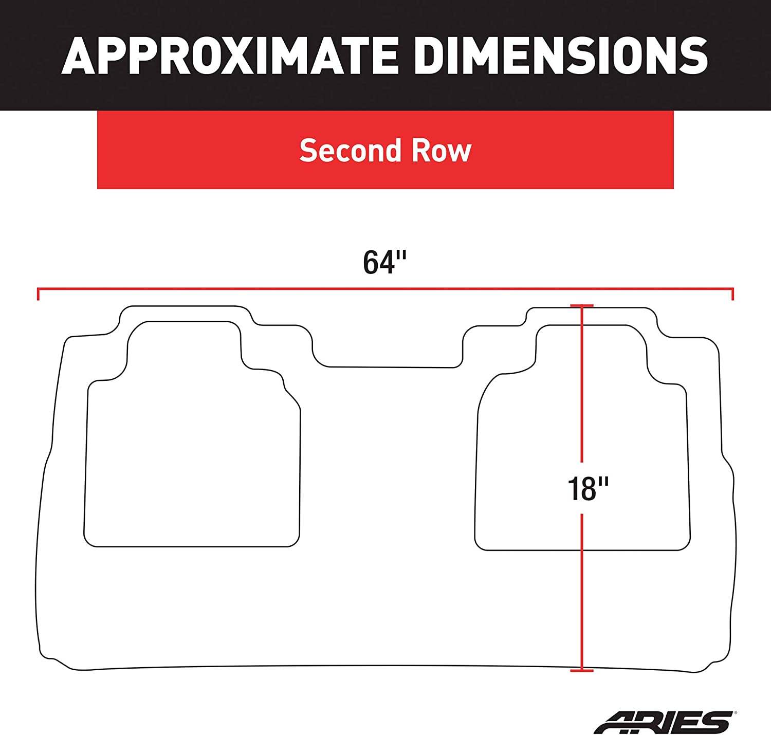 ARIES FR07021809 StyleGuard XD Black Custom Truck Floor Liner for Ford F-250 2nd Row Only F-450 Super Duty F-350