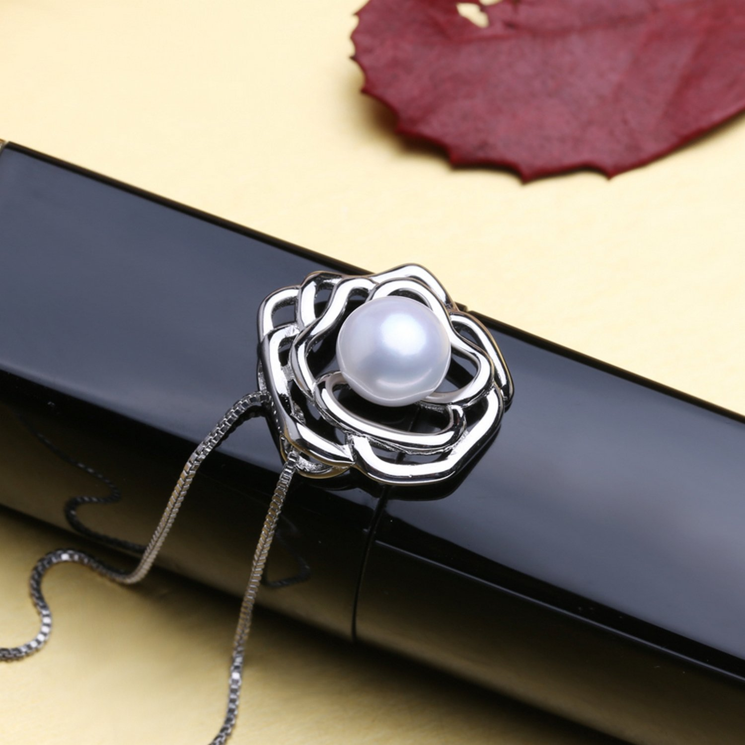 CS-DB Jewelry Silver Angel Pearl Chain Charm Pendants Necklaces