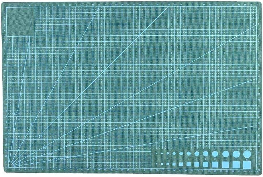 SALAKA Tabla de Cortar 1PC A3 Alfombrilla de Corte Antideslizante Papel de curaci/ón autom/ática Tabla de Corte L/íneas de Rejilla de Cuero Tabla de Cortar