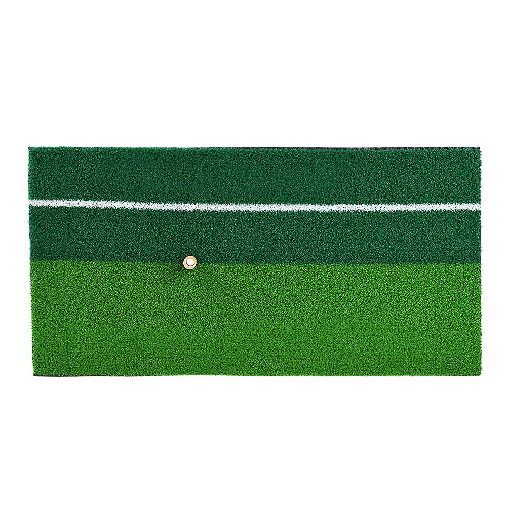 RUNACC Portable Golf Hitting Mat Residential Practice Hitting Mat Mini Golf Hitting Pad with Tee, Suitable for Golf, Green by RUNACC (Image #5)