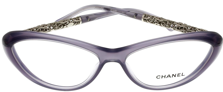 802e6b75e47 Amazon.com  Chanel Prescription Eyewear Frames Bijou Lilac Women CH3270  1271 Cateye  Clothing