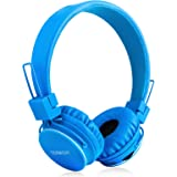 Kids Bluetooth Headphones Foldable Volume Limiting Wireless/Wired Stereo On Ear HD Headset with SD Card FM Radio in-line Volu