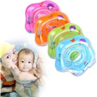 Swimming Baby Neck Float Ring Bathtime Toy for Promotes Independence and Confidence in The Water (Blue)