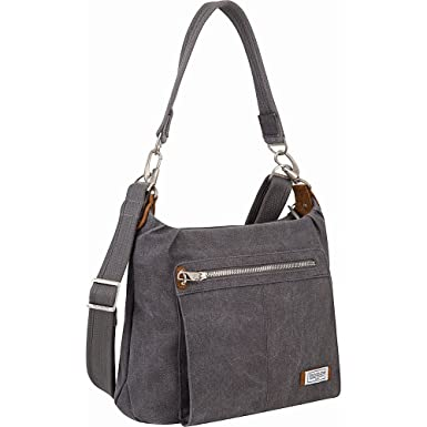 Amazon.com: Travelon Anti-theft Heritage Hobo Bag, Pewter: Clothing