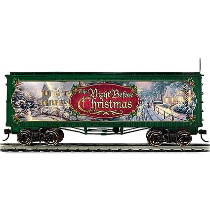 Thomas Christmas Train Set.Amazon Com Thomas Kinkade Christmas Train Box Car The