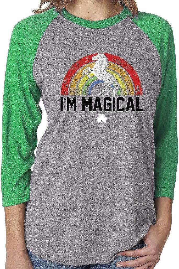 Women's St. Patrick's Day Magical Rainbow Unicorn Shirt