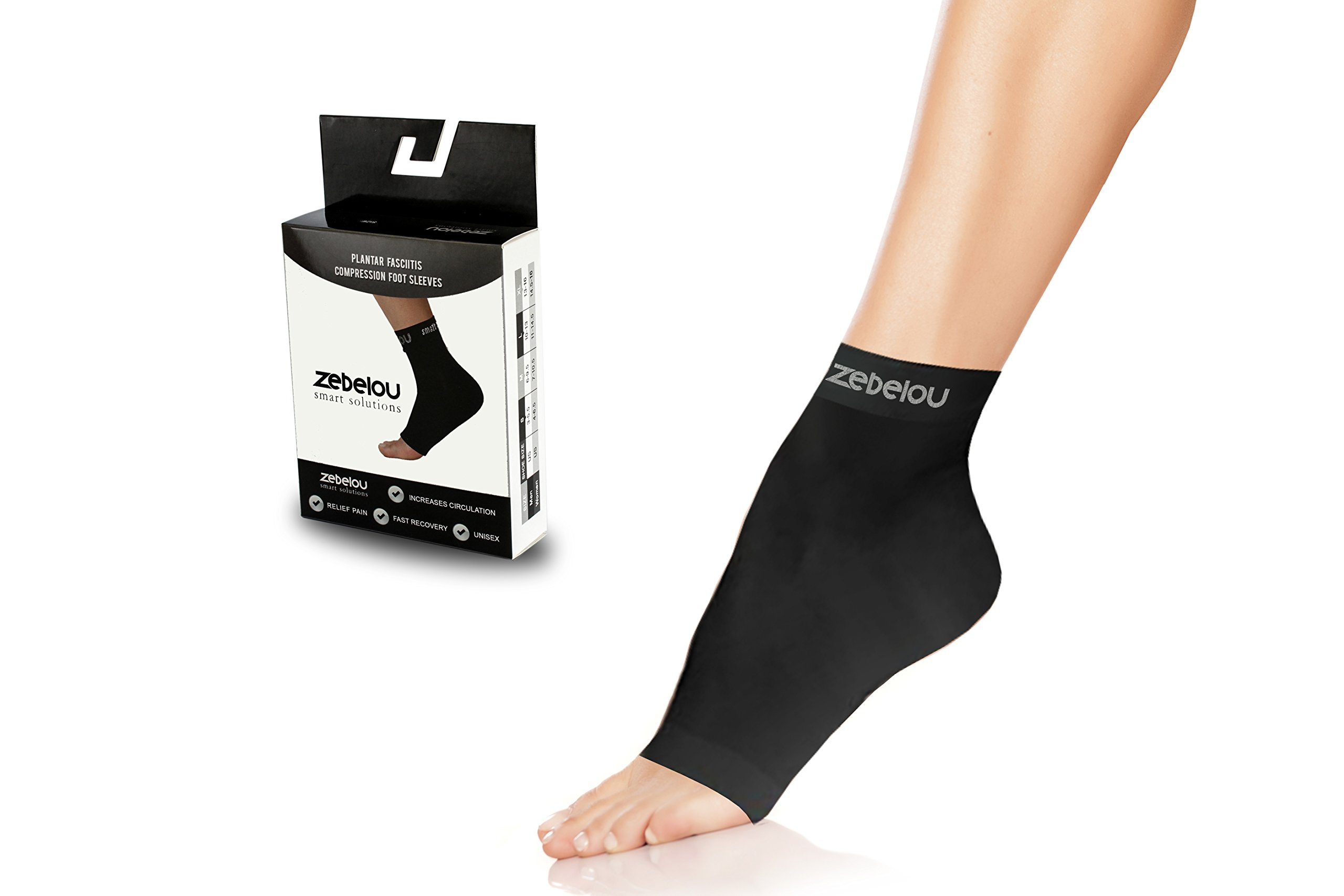 c0d809f2de Amazon.com: Zebelou Smart Solutions Plantar Fasciitis Foot Compression Socks  with Arch & Ankle Support for Women & Men - Best Foot Care Compression Socks  ...