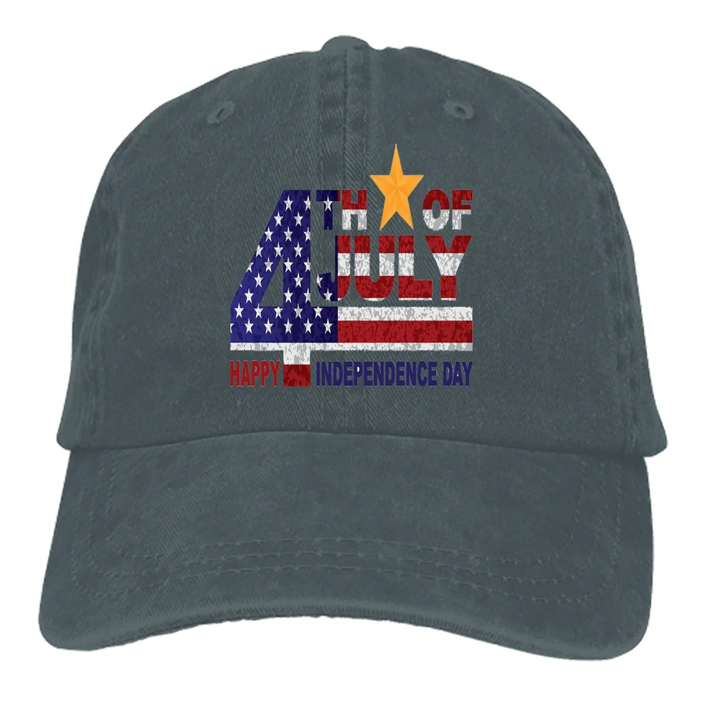 SHUANGRENDE Denim Fabric Adjustable Independence Day Vintage Baseball Cap