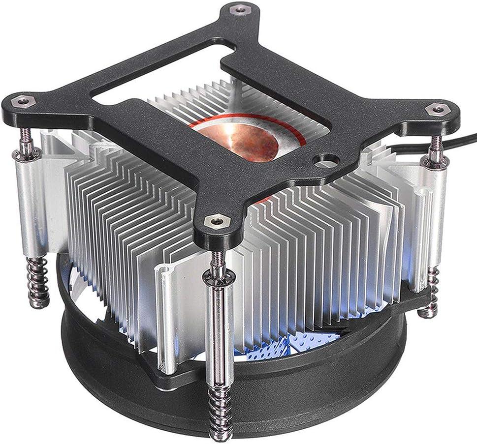 3CTOP LED Cooler CPU Fan Heatsink for LGA 1150//1151//1155//1156 Blue