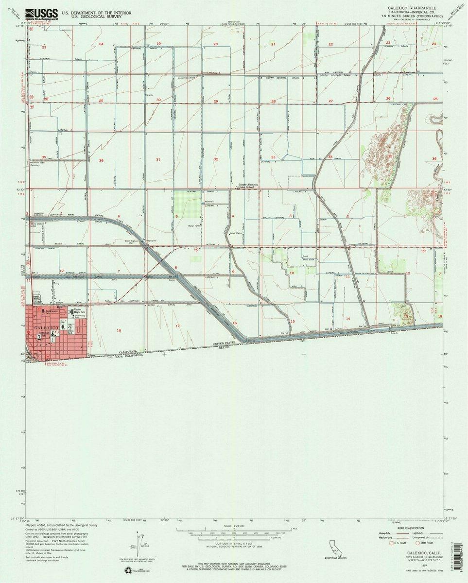 Amazon Com 1957 Calexico Ca Usgs Historical Topographic Map