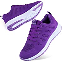 Youecci Mujeres Zapatillas de Deportivos de Running para Mujer Gimnasia Ligero Sneakers Malla Transpirable con Cordones…