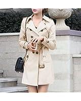 KEBINAI Women Double Breasted Slim Fit Long Spring Coat Feminino Abrigos Mujer Autumn Outerwear Z505