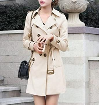 B dressy Women Double Breasted Slim Fit Long Spring Coat Feminino Abrigos Mujer Autumn Outerwear Z505