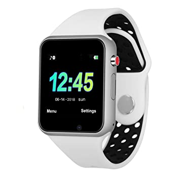 Bluetooth Relojes inteligentes Teléfono, pantalla táctil Seguimiento de actividad, Monitoreo del sueño, Duración ultra larga de la batería con tarjeta SIM ...
