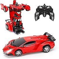 FIGROL Transform Car Robot, Robot Deformation Car Model Toy for Children, Transforming Robot Remote Control Car with One…