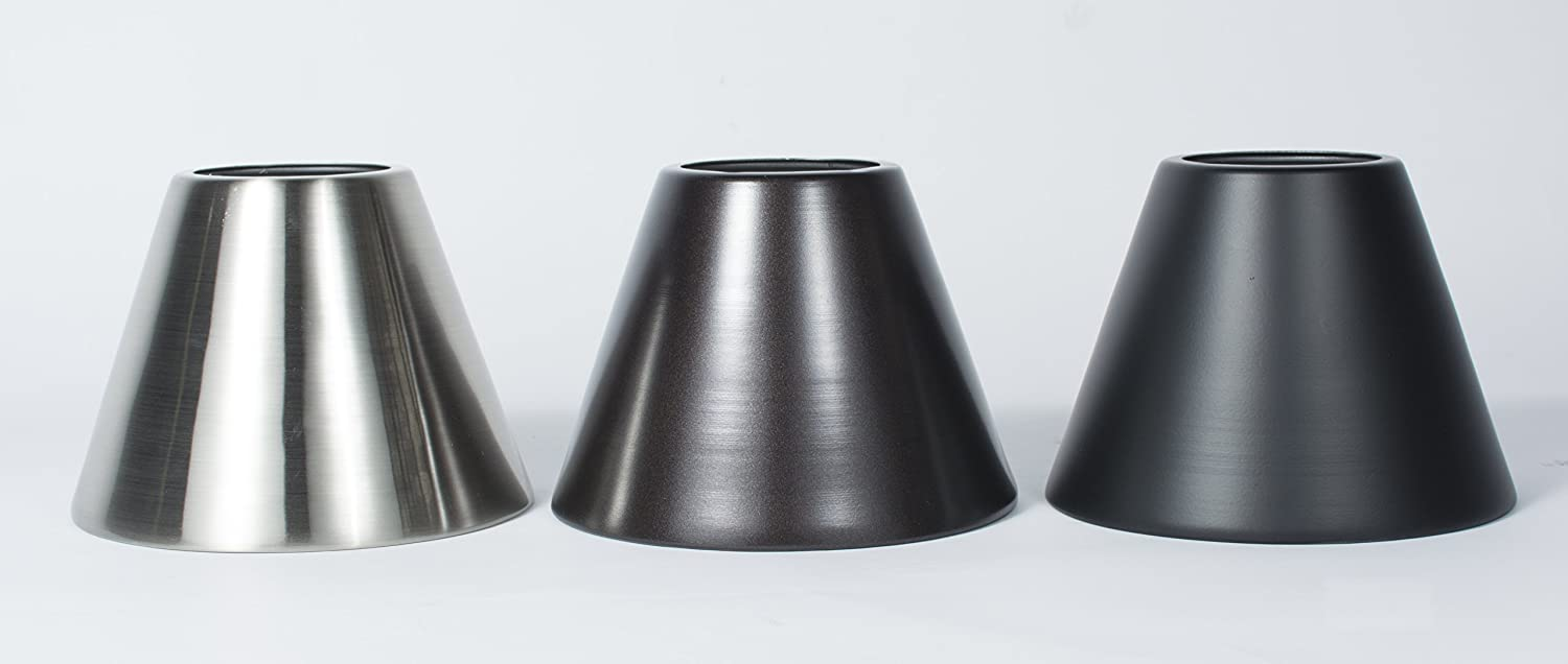 Urbanest 3x6x5 metal chandelier lamp shade oil rubbed bronze set urbanest 3x6x5 metal chandelier lamp shade oil rubbed bronze set of 5 amazon aloadofball Image collections