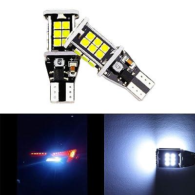 2pcs T15 W16W 912 921 LED Reverse Light Bulbs 24 SMD Extremely Bright 6000K Back Up Reverse LED Light Lamp Xenon White: Automotive