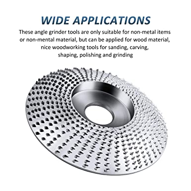 """5//8/"""" Bore Tungsten Carbide Grinding Wheel Abrasive Disc Angle Carving Tool Flat Pumauto 4 Inch Wood Grinder Shaping Disc"""