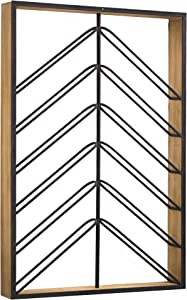"American Art Decor Wood and Metal Wall Mounted Wine Rack (36.25"" x 24.25"" x 3.75"")"