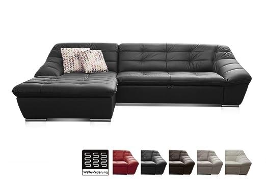Cavadore Leder Sofa Lucas Echtleder Couch Mit Steppung Longchair