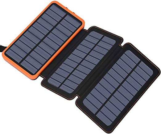 Hiluckey Solar Charger External Battery Pack