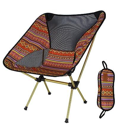 LIGHTOP Portátil mochilero sillas de Campo Fácil de Llevar ...