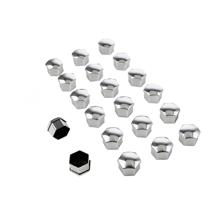 Beishuo, copribulloni universali in plastica, 20 pezzi, misura 19 mm, per cerchi dell' auto